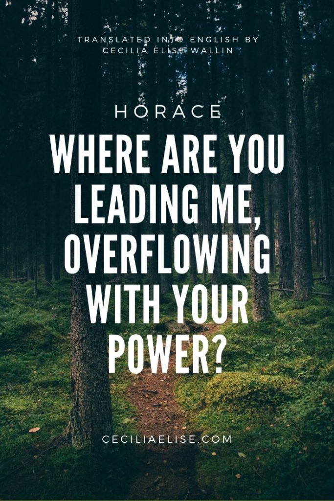 Bacchus Where are you leading meQuintus Horatius Flaccus