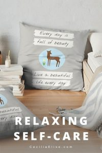 "QUOTE PILLOW Relaxing Self-Care ""Remindeer"" (Deer) by Cecilia Elise Wallin"