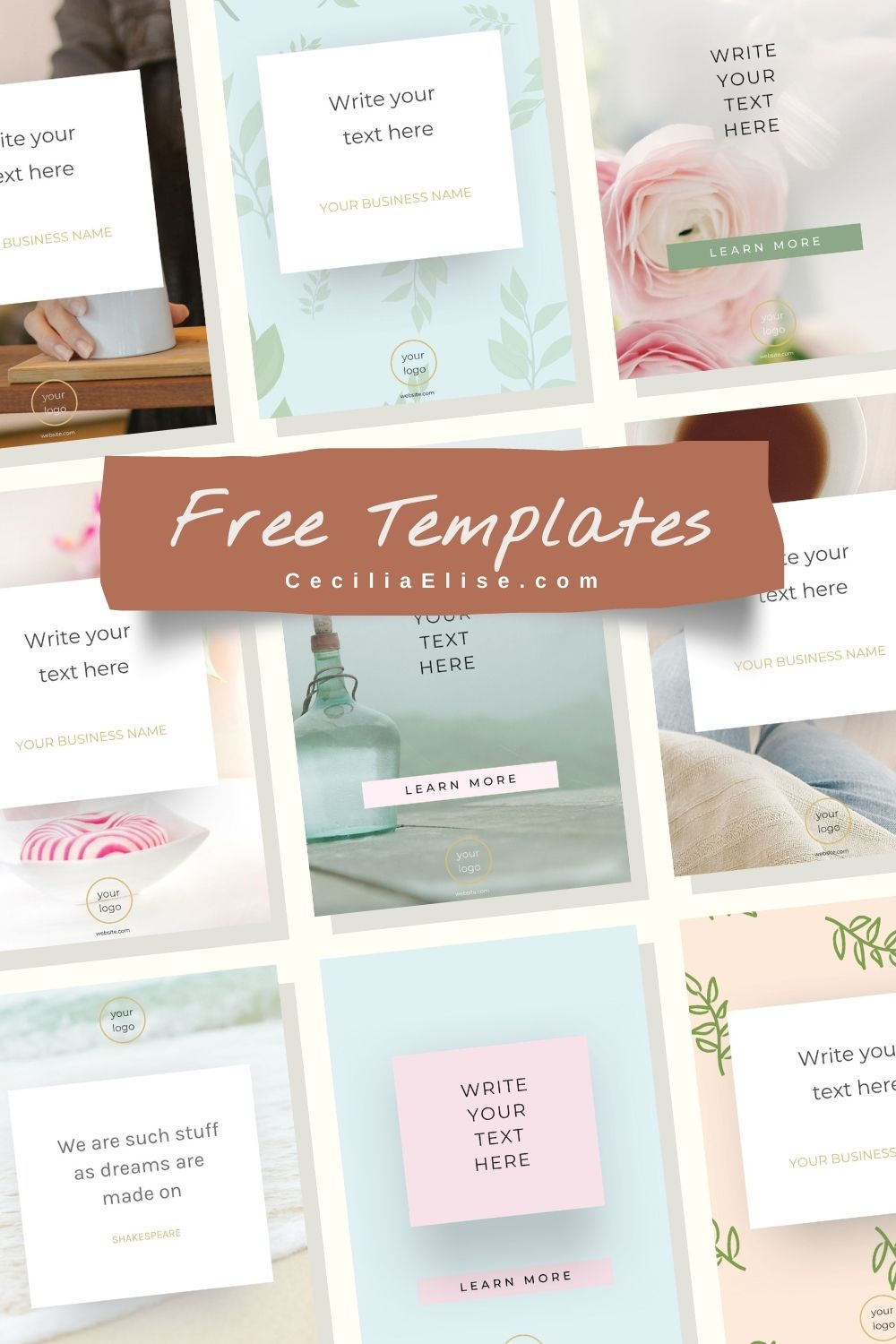 Free Pinterest Templates for Canva